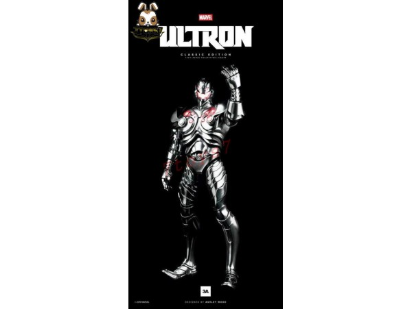 3A ThreeA 1/6 Marvel Classic Edition Ultron_ Box _Red LED Bambaland Exclusive 3A250A