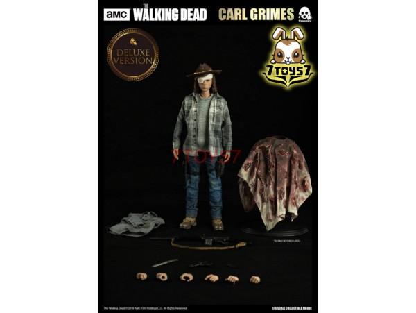Threezero 1/6 Walking Dead - Carl Grimes_ Deluxe Box Set _TV Now 3A393Y