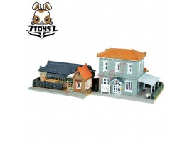 Tomytec 1/150 Diorama Collection Ranch Home & 2 Level Colonial N Gauge TY037B