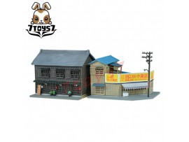 Tomytec 1/150 Diorama Collection Corner Market & Wooden Factory N Gauge TY037C