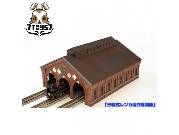 Tomytec 1/150 Diorama #122_ 3 Track OT Engine House _N Gauge TY012B
