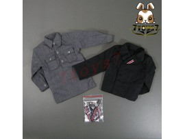 TOYS CITY 1/6 6007 German Panzer Crew_ Black Field Tunic + Shirt _WWII TCX02C