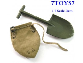 TOYS CITY 1/6 6029_ Entrench Tool + Pouch _US Paratrooper TCX13I