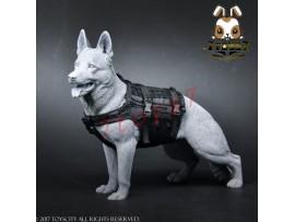 TOYS CITY 1/6 Working Dog - Tactical Body Armor_ Black Set _Animal Now TC059C