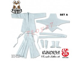 Toys Dao 1/6 TDA04A Kunoichi Clothes_ White Set _Female Ninja ZZ117G