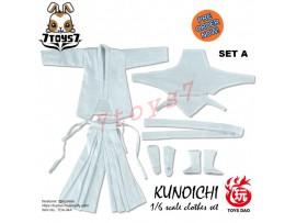 [Pre-order] Toys Dao 1/6 TDA04A Kunoichi Clothes_ White Set _Female Ninja ZZ117G