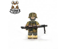 U-Custom WWII German Autumn Camo Paratrooper Gunner_ Minifigure _brick UC003B