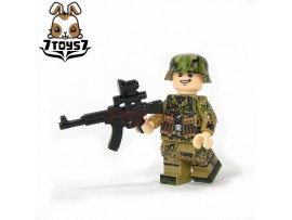 U-Custom WWII German Camo Infantry MP44_ Minifigure _brick UC001H