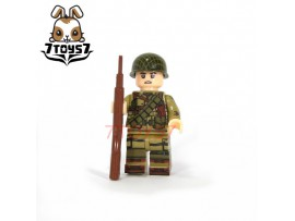 U-Custom WWII US 101 Airborne Trooper M1 Grand_ Minifigure _brick UC004A