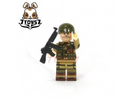 U-Custom WWII US 101 Airborne Trooper Thompson_ Minifigure _brick UC004B