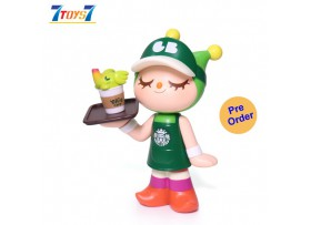 "[Pre-order deposit] Unbox Industries 6.5"" Elfie's Cafe Waitress Greenie (Green Outfit Edition) Vinyl_ Figure _UBX020Z"