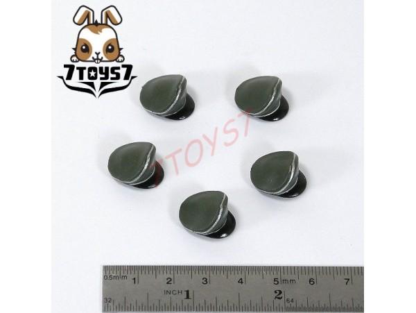 Unibrick Minifig German WWII Headwear_Green Visor Cap Set/ 5_Custom Brick UN001V