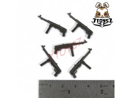 Unibrick Minifig WWII German Soldier_ MP40 Machine gun x 5 _Toys Brick UN003J