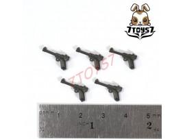 Unibrick Minifig WWII German Soldier_ P08 Pistol x 5 _Toys Brick UN003P