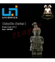 Unibrick Minifig Unicotta Terracotta #C Officer Archer _Brick Chinese Qin UN004C