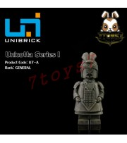 Unibrick Minifig Unicotta Terracotta #A General _Brick Chinese Qin Now UN004A