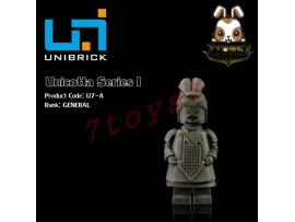 Unibrick Minifig Unicotta Terracotta #A General _Brick Chinese Qin Now UN004A