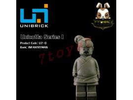 Unibrick Minifig Unicotta Terracotta #D Infantryman _Moveable Brick Qin UN004D