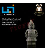 Unibrick Minifig Unicotta Terracotta #B Military Officer _Brick Chinese UN004B