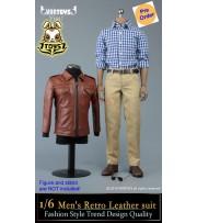 [Pre-order deposit] VORTOYS 1/6 V1017 Men's Retro Leather Suit_ Set _VR004A