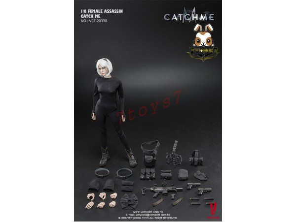 Verycool 1/6 VCF-2033B Female Assassin - Catch Me_ Box Set _Strabismus scar head VC056Z