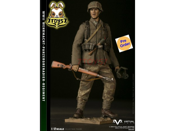 [Pre-order] Virtual Toys 1/12 VG002 Pocket Elite Series: WWII Wehrmacht Panzergrenadier Regiment_ Box _VTS VS021Z