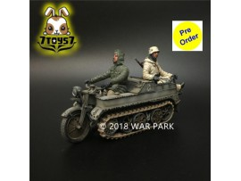 [Pre-order deposit] War Park 1/30 KH038 LSSAH Kettenkrad with 2 riders_ Figure _WP002R