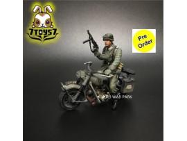 [Pre-order deposit] War Park 1/30 KU010 Grog deutschland BMW R75 Motorcycle w/ rider_ Figure _WP007A