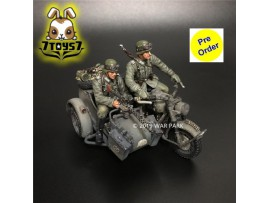 [Pre-order deposit] War Park 1/30 KU011 Grog deutschland BMW R75 Motorcycle Combination_ Figure _WP007B