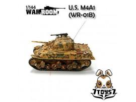 War Room 1/144 M4A1 US Sherman Tank #B Prepainted Assembled World of Tank WR001B