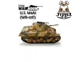 War Room 1/144 M4A1 US Sherman Tank #F Prepainted Assembled World of Tank WR001F