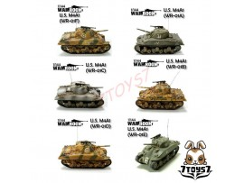 War Room 1/144 M4A1 US Sherman_Tank Set of 6 WR001Z
