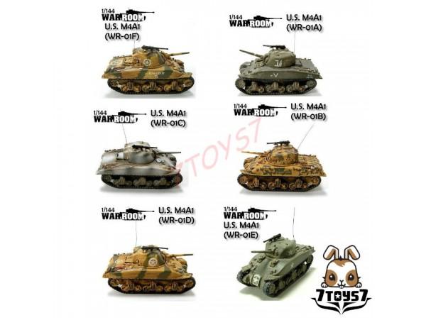 War Room 1/144 M4A1 US Sherman_Tank Set of 6 WR001Z