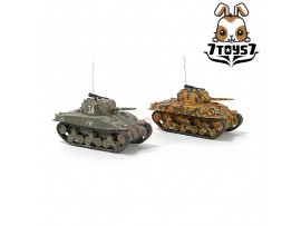 War Room 1/144 M4A1 US Sherman Tank_Set #A_Prepainted World of Tank WWII WR001T