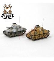 War Room 1/144 M4A1 US Sherman Tank_Set #B_Prepainted World of Tank WWII WR001U