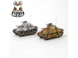 War Room 1/144 M4A1 US Sherman Tank_Set #B_Prepainted World of Tank WWII WR001U
