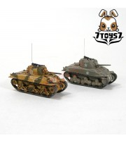War Room 1/144 M4A1 US Sherman Tank_Set #C_Prepainted World of Tank WWII WR001V