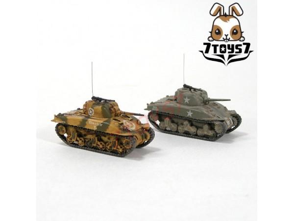 War Room 1/144 M4A1 US Sherman Tank_Set #C_Prepainted World of Tank WWII WR001V