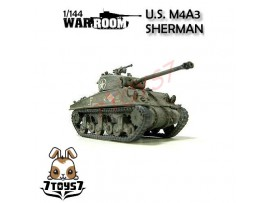 War Room 1/144 M4A3 US Sherman_ Tank with Display Case WR002A