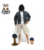 Wild Toys 1/6 Adventure & Tactical_ Blue Set _Stealth Jacket Hoodie Pants WT011B