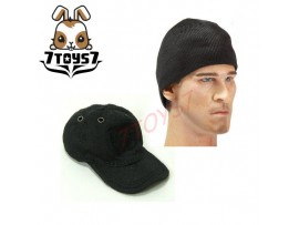 Wild Toys 1/6 Adventure & Tactical_ Black Baseball Cap + Watch cap _Now WT011G