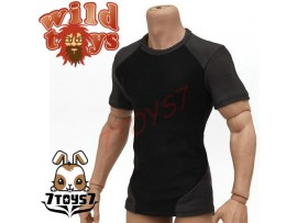 Wild Toys 1/6 Adventure & Tactical_ Black tight fit Tee _Now WT011Y