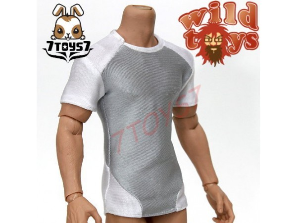Wild Toys 1/6 Adventure & Tactical_ White tight fit Tee _Now WT011X