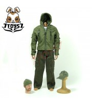 Wild Toys 1/6 Adventure & Tactical_ Blue Set _Stealth Jacket Hoodie Pants WT011C