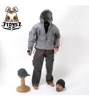 Wild Toys 1/6 Adventure & Tactical_ Grey Set _Stealth Jacket Hoodie Pants WT011E