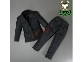 Wild Toys 1/6 WT024 Agent James Black Set_ Blazer + Pants_007 UK MI6 ACI WT029B