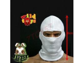 Wild Toys 1/6 Balaclava White 1 hole_ Mask _Now WT008B
