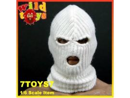 Wild Toys 1/6 Balaclava White 3 holes_ Mask _Now WT008A