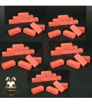 Wild Toys WT27 1/6 Diorama Red Bricks x 50 pcs_ Set _Now WT034Y