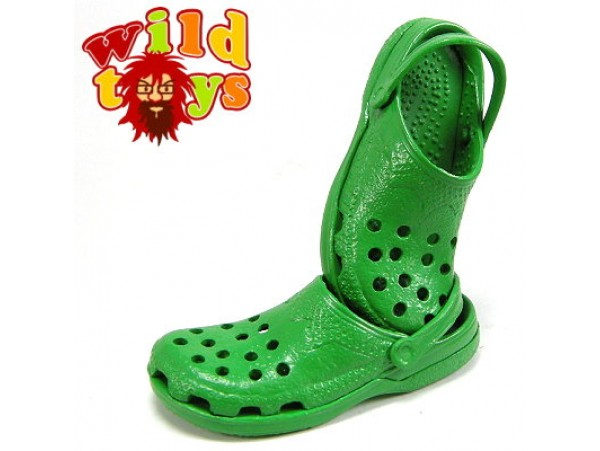 Wild Toys 1/6 Plastic Clogs #9 Green: Sandal Now WT006I